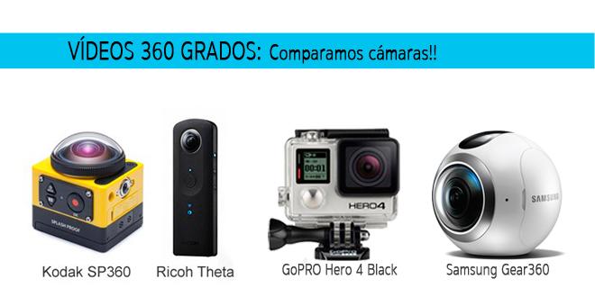 Comparativa entre GoPRO y otras marcas para vídeos 360 grados