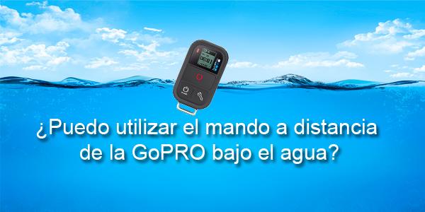 ¿Funciona el mando Wi-Fi de la GoPRO bajo el agua?