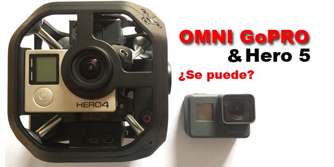 ¿Se puede utilizar OMNI GoPRO con cámaras Hero 5 Black Edition?