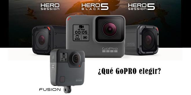 ¿Qué cámara GoPRO elegir? Tabla comparativa