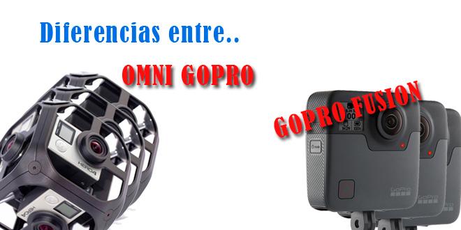 ¿En qué se diferencia la OMNI GoPRO de la GoPRO Fusion?