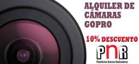 AlquilarGoPRO.com y la Plataforma de Nuevos Realizadores te ofrecen un descuento en alquiler de GoPRO!!