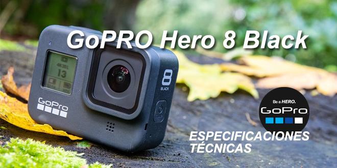 GoPRO Hero 8 Black: especificaciones técnicas